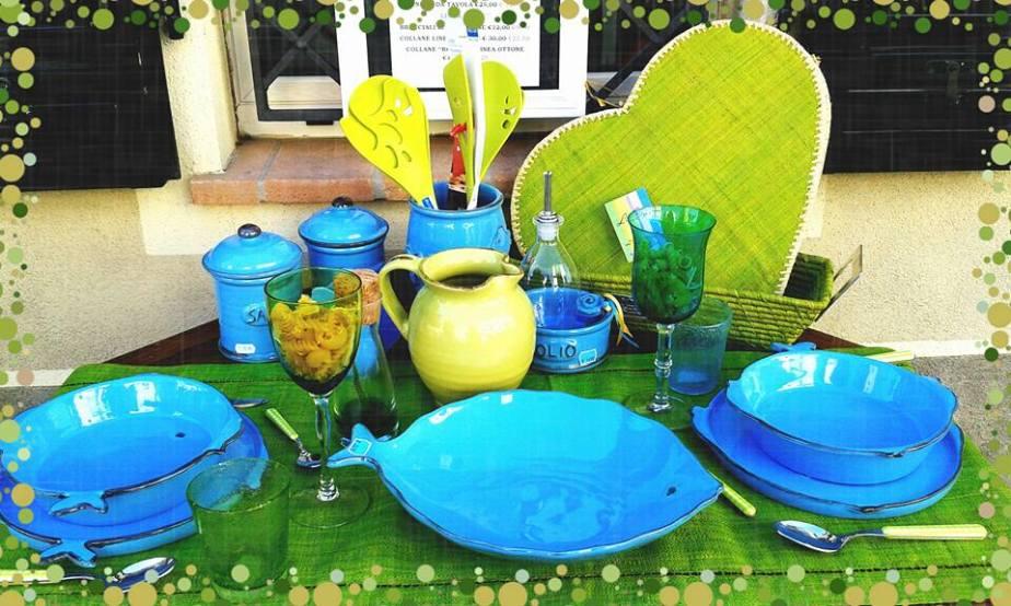 Alcuni esempi per #apparecchiare la tua #tavola con le #ceramiche #artistiche #toscane di #LifeStyle shop di #CastiglioneDellaPescaia