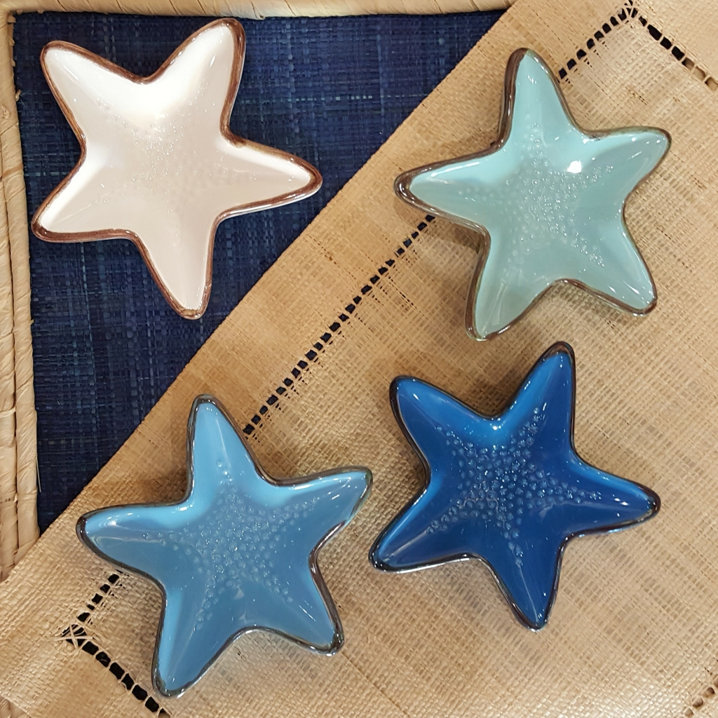ciotoline di ceramica a forma di stella marina