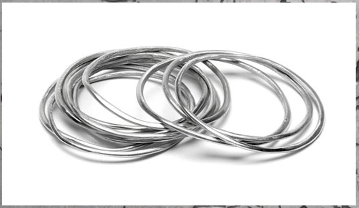 bigiotteria e gioielli anallergici realizzati in alluminio riciclato