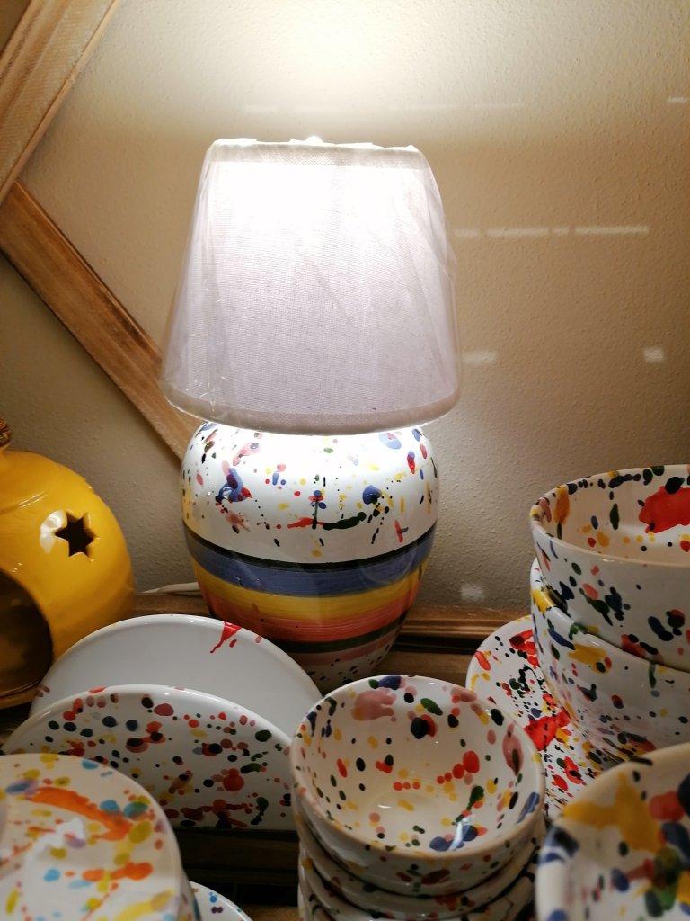 Lampada ceramica Arlecchino
