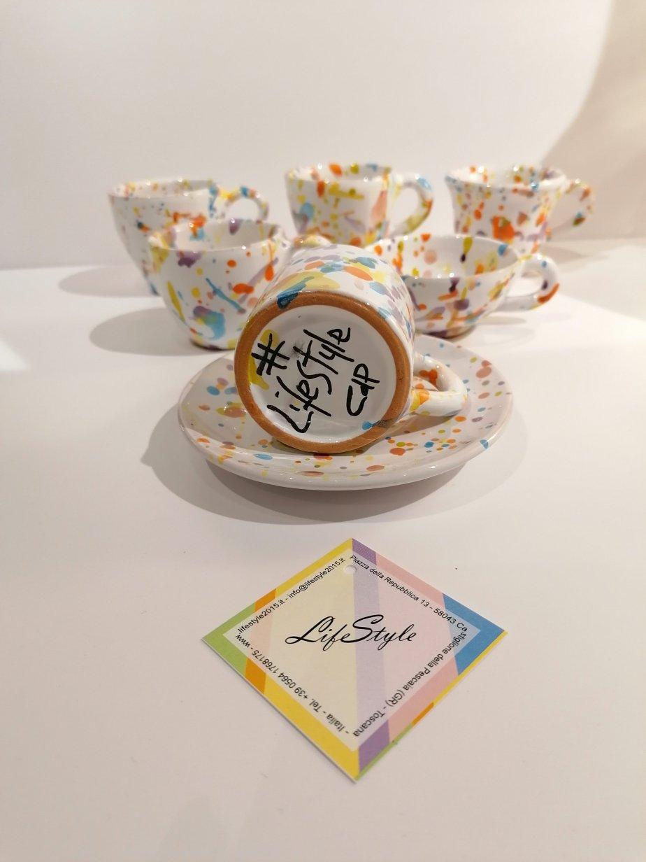Ceramiche effetto Pollock – Le Lentiggini di LifeStyle#LifeStyleCDP