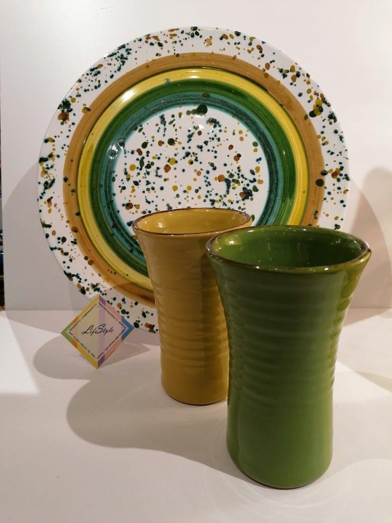 Ceramiche toscane per la tavola LifeStyle - toni del verde a confronto
