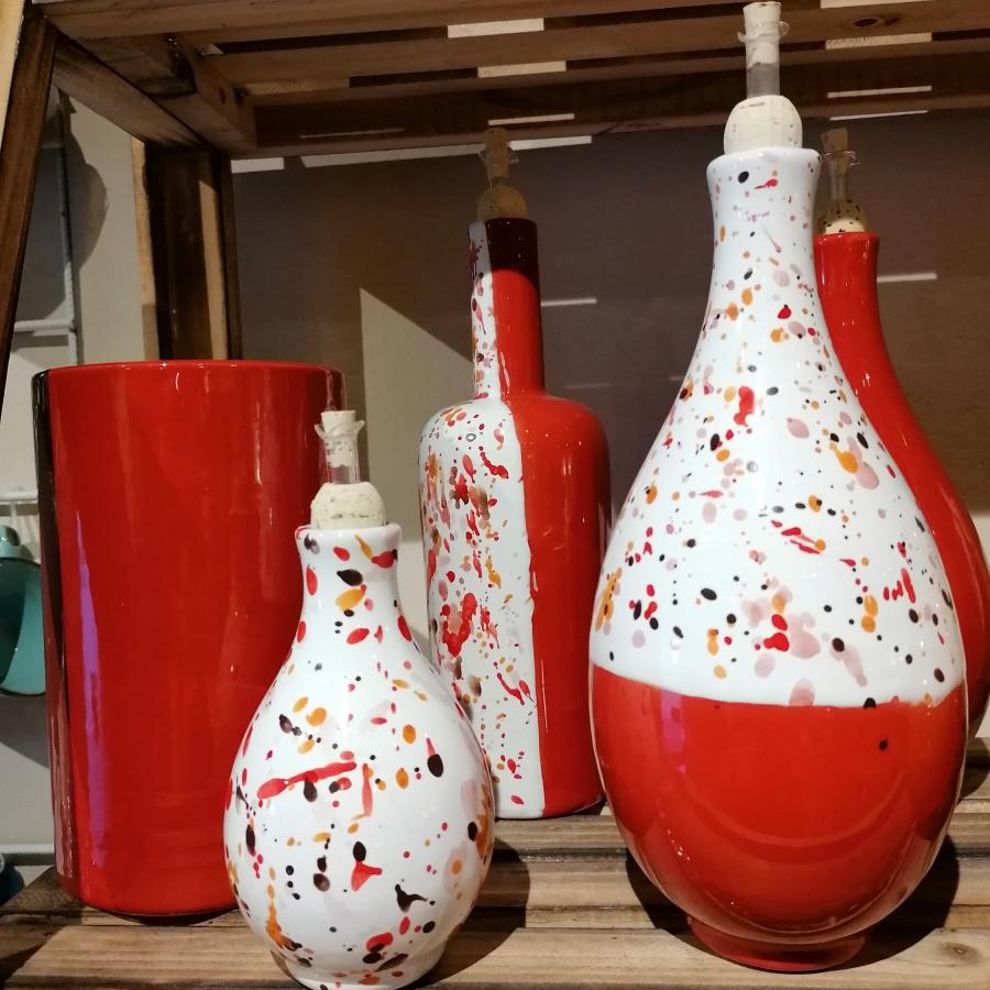 Oliera a ampolla di ceramica artigianale toscana tipica LifeStyle
