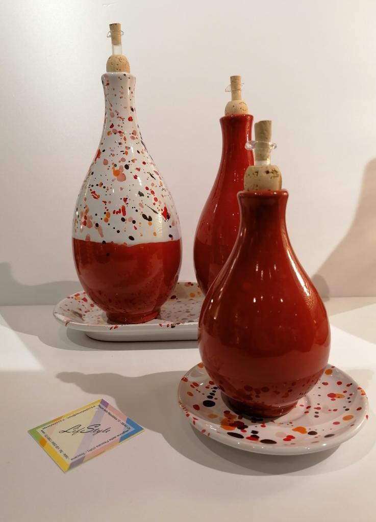 Bottiglia per olio con tappo versatore Lentiggini di LifeStyle