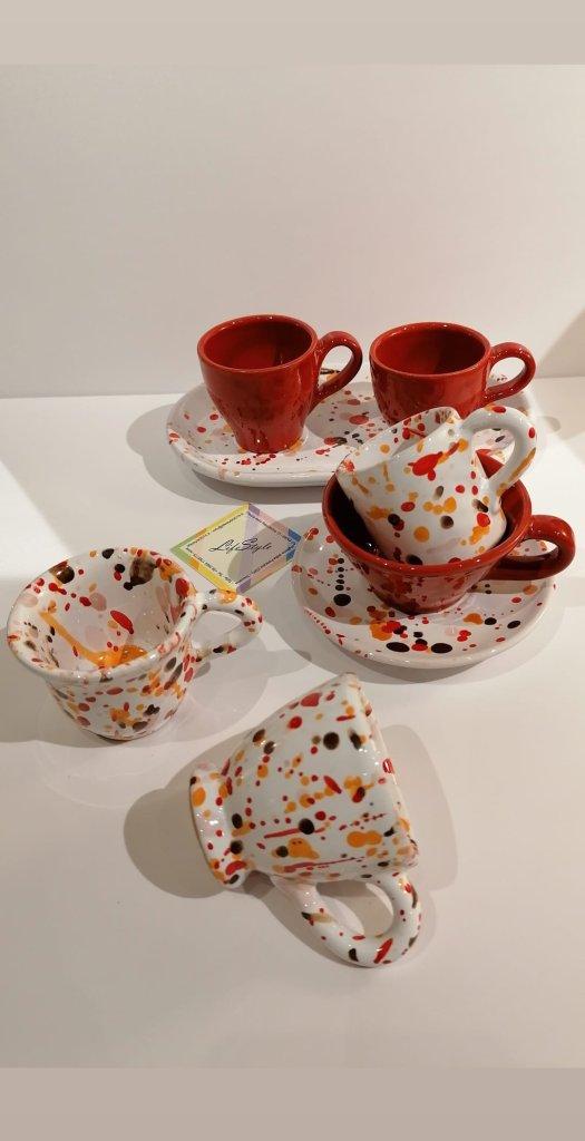 tazzine da caffè espresso artigianali della toscana