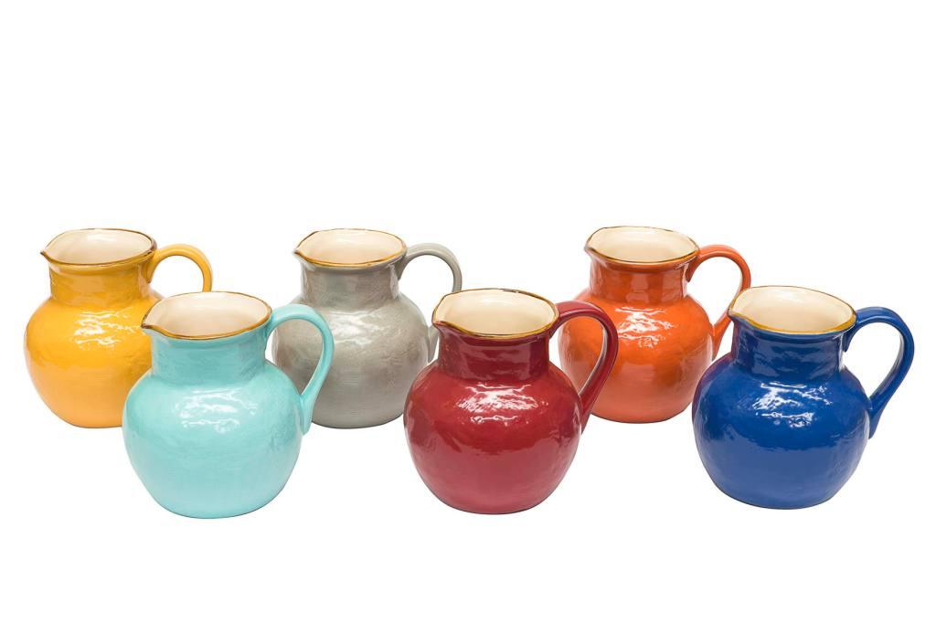 Caraffe di ceramica toscana colorate
