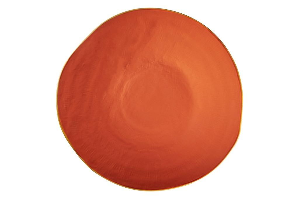 Piatto piano arancione