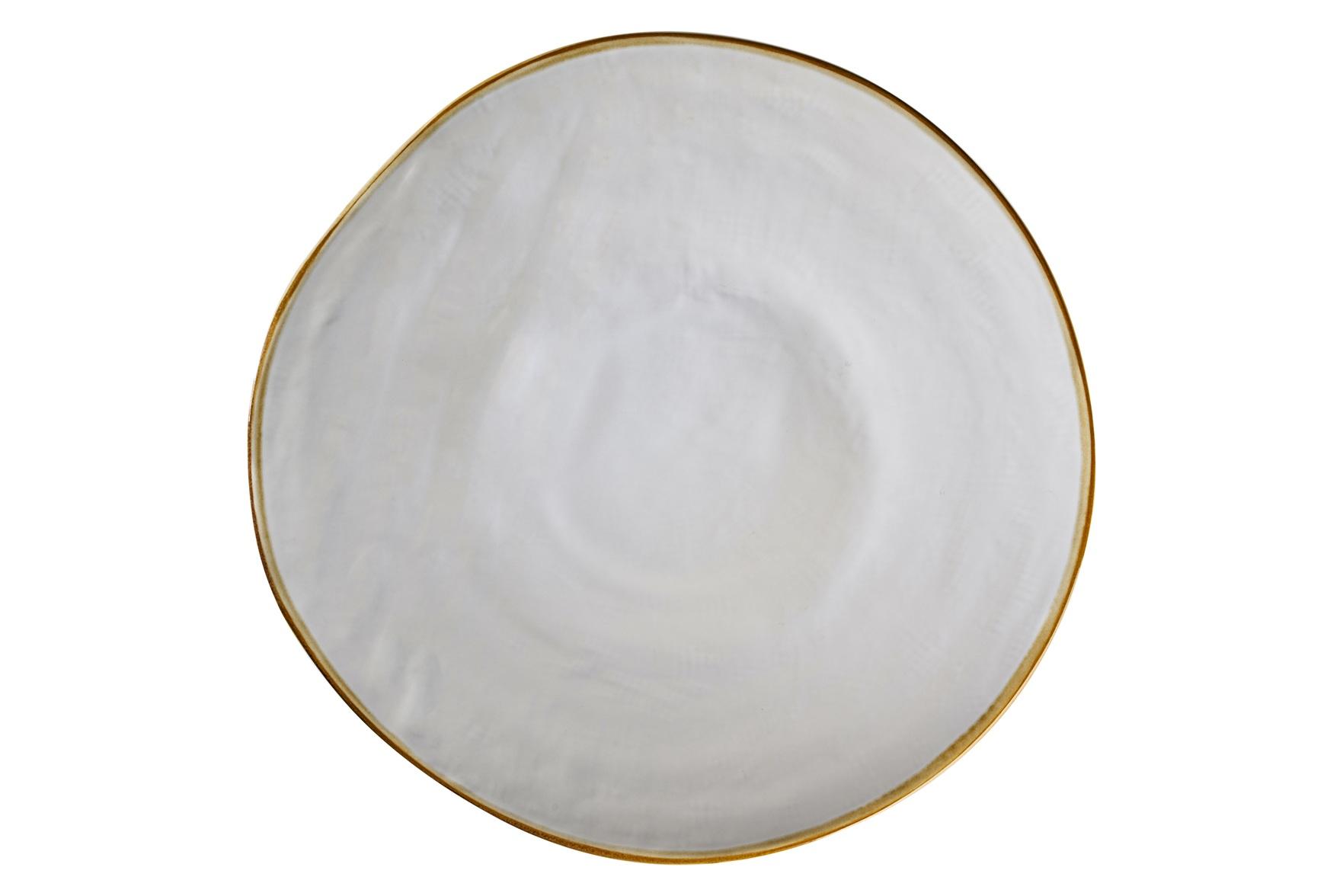 Piatto piano colore grigio perla